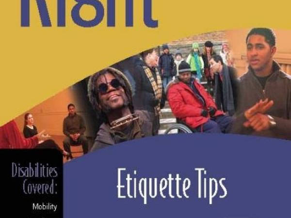 Disability etiquette tips dvd
