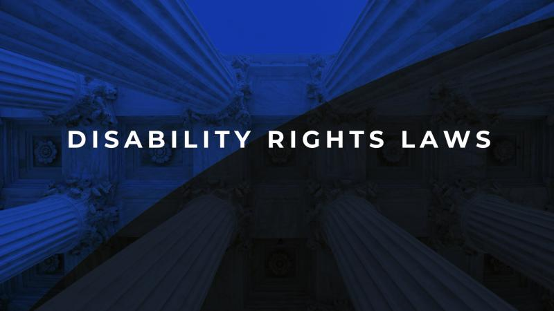 Disability rights laws text