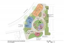 Rendering of Red-tailed Hawk Park's accessible playground