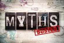 "Text that reads, ""Myths, busted."""
